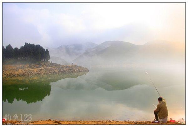 十一游钓广西桂林天湖水库钓鱼